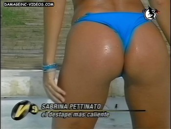 Sabrina Pettinato big wet ass in thong